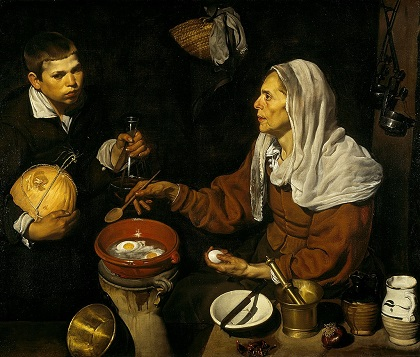 An Old Woman Cooking Eggs.jpg