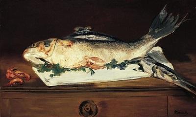 魚とエビのある静物.JPG