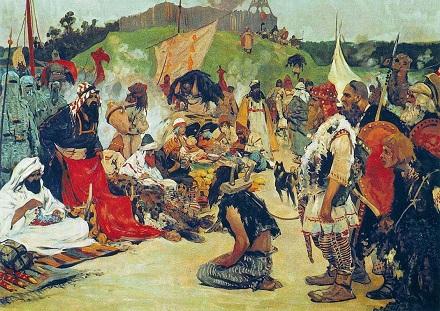 S_V_Ivanov Trade_negotiations_in_the_country_of_Eastern_Slavs.jpg